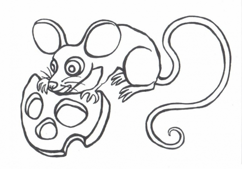 Myška omalovánky