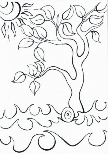 Strom omalovánky