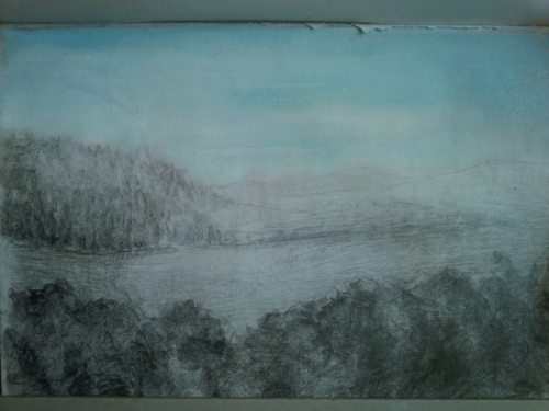 tužka, pastel/pencil, pastel15cm x 21cm