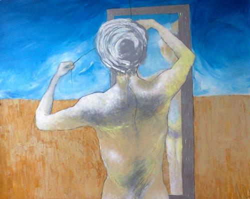 acrylics, graphite, pastels85 cm x 70 cm